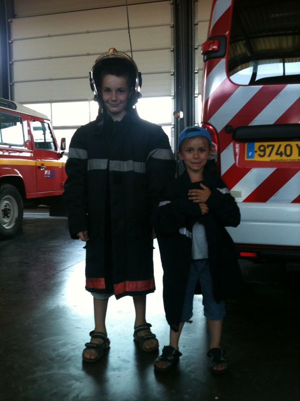 Les enfants du centre de loisirs ont visité le centre de secours de Branges
